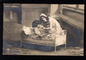 031538 Funny Kids play in Mom & Baby vintage PHOTO