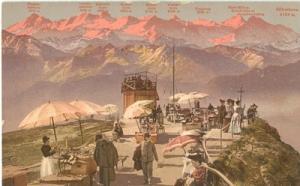 Switzerland, Rigi-Kulm und die Berner-Hochalpen, early 19...