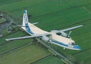 MVA Mississippi VAlley Airlines Skyliner Cards no )66 Fokker F27 Mk500 N334MV