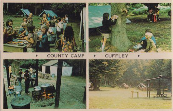 Cuffley Hertfordshire County School Camp Tent Cookery Vintage Postcard