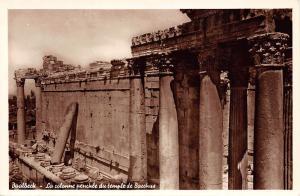 Lebanon Baalbeck - La colonne penchee du temple de Bacchus