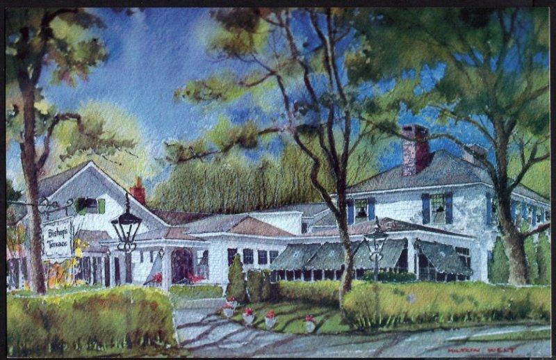 Massachusetts Bishops Terrace Restaurant Captains HouseCAPE COD Chrome 1950-1970