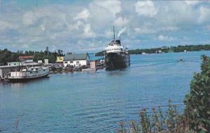 Ferry S.S. NORISLE at dock , Manitoulin Island , Ontario , Canada , 50-60s