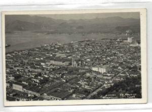 brazil, SANTOS, Panorama (1930s) RPPC (1)