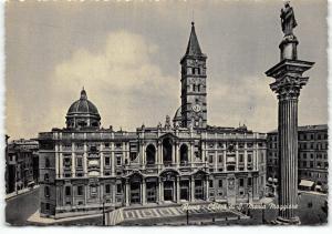 Vintage Black & White Roma Rome Postcard, Basilica of St Maria Majeure R47