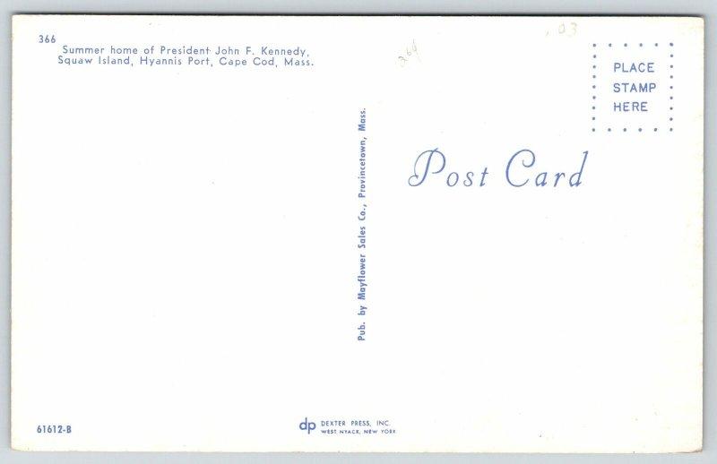 Hyannis Port Cape Cod Squaw Island MA~President John F Kennedy Home~1950s Car