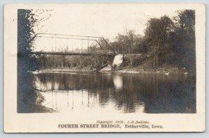 Estherville Iowa~Fourth Street Bridge~Through Truss~1907 LC Doolittle RPPC