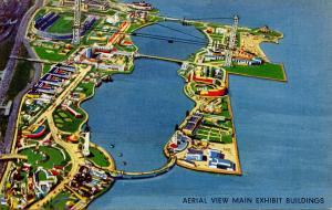 IL - Chicago. 1933 Chicago World's Fair. Aerial View, Main Exhibit Bldgs
