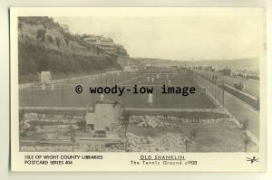 pp1630 -  The Tennis Courts on the Seafront, in Shanklin c1923 - Pamlin postcard