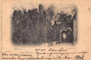 Teplitz Czech Rosenburg Gruss aus Antique Postcard J67759