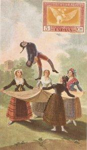 GOYA. El Pelele  Fine painting, vintage spanish postcard