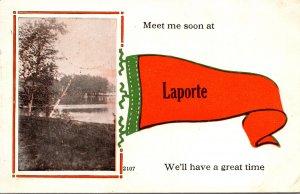 Pennsylvania Laporte Meet Me Soon 1915 Pennant Series