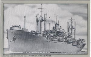 U.S.S. Naval Attack Transport - pub. by Liberty Picture  '45