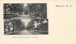 North and South Mountain Avenues, Montclair, N.J., Very Early Postcard, Unused