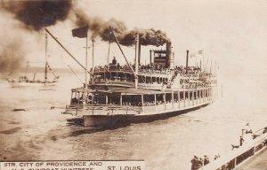 RP: ST. LOUIS , Missouri , 1909 ; Steamer City of Providence