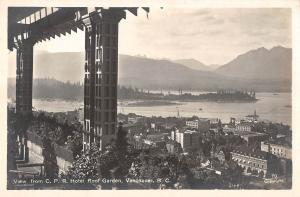BR73906 vancouver view from c p r hotel roof garden real photo canada