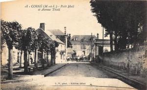 Corne (M.-et-L.) Petit Mail et Avenue Tivoli Postcard
