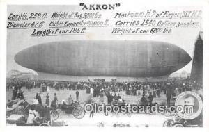 From Rubber City Stamp Club, Akron, Ohio USA Zeppelin Air Ship Akron Postcard...