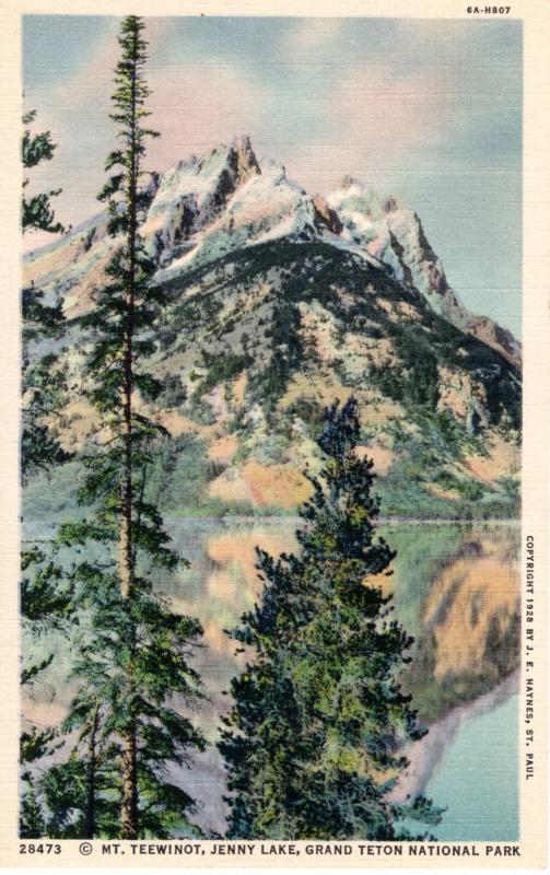 YELLOWSTONE NATIONAL PARK Haynes Linen Series.  28473.