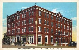 Swainsboro Georgia~Coleman Hotel~Hunting Privileges on 50,000 Acres~Rt 1 1936