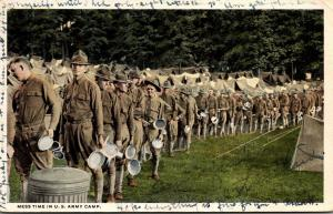 Military Mess Time In A U S Army Camp 1922