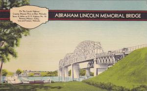 Abraham Lincoln Memorial Bridge crossing Missouri River at Blair, Nebraska,  ...