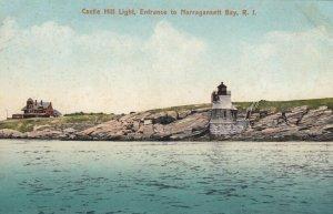 NARRAGANSETT BAY , R.I. , 1900-10s ; Castle Hill Lighthouse
