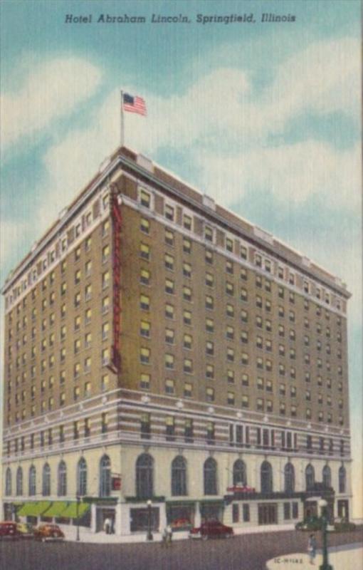 Illinois Springfield Hotel Abraham Lincoln Curteich