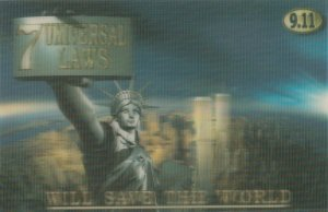 NEW YORK CITY , Twin Towers 9.11 3D Holographic Postcard Modern , 5/5