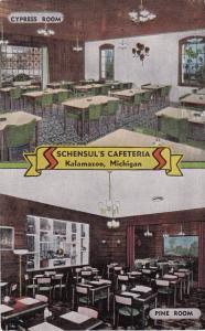 KALAMAZOO, Michigan, 30-40s ; Cypress Room & Pine Room, Schensul's Cafeteria