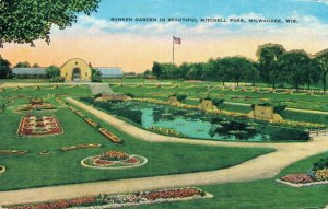 USA Sunken Garden In Beautiful Mitchell Park Milwaukee Wisconsin 03.07