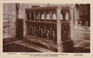 England Hereford The Cathedral Shrine Of St Thomas Of Hereford Knights Templars