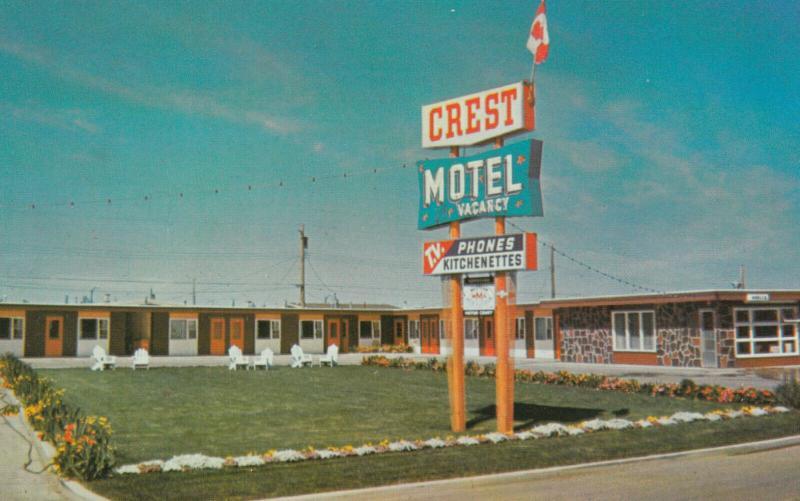 LETHBRIDGE , Alberta , Canada , 50-60s ; Crest Motel