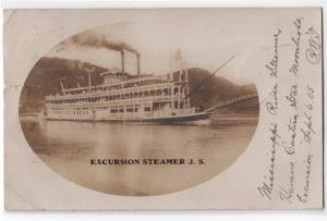 RPPC, Excursion Steamer J.S.