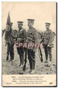 Old Postcard Militaria The only Canadian flag offered by the Princess Patrici...