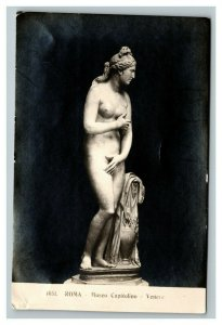 Vintage Early 1900's Photo Rome Capital Museum Statue Nice Silvering UNPOSTED