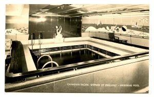 Canadian Pacific Steamship Co - Empress of England, Swimming Pool RPPC