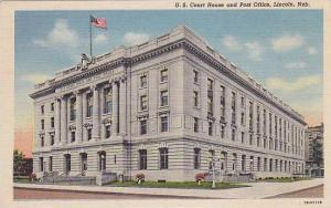Exterior view of U.S. Court House, and Post Office, Lincoln, Nebraska,  PU-30...