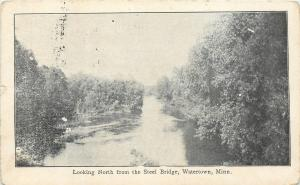 Watertown Minnesota~Looking North from the Steel Bridge~1909 Postcard