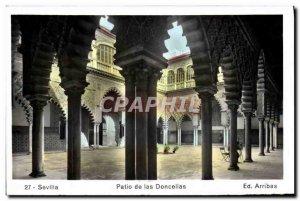 Old Postcard Sevilla Patio de las Doncellas