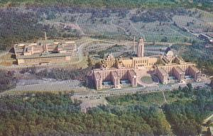 Aerial View of University of Montreal, Province of Quebec, Canada, 40-60s