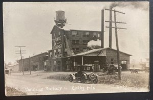 Mint USA Real Picture Postcard RPPC Canning factory Colby WI
