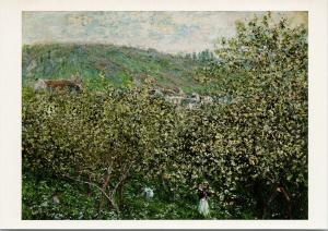 Claude Monet 'Landscape with Orchards and Figures, 1879' Art Postcard D91