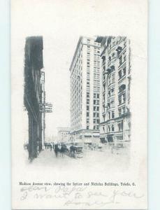 Pre-1907 STREET SCENE Toledo Ohio OH W2439