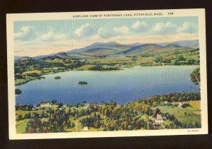 Pittsfield, Massachusetts/MA Postcard, Airplane View Of Pontoosuc Lake