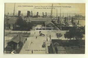 su318 - French CGT Ships in Saint-Nazaire Harbour , France - postcard