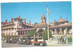 Sightseeing Trains, Flagler College in background,  St. Augustine, Florida,  ...