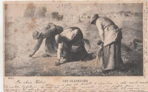 BF33650 millet les glaneuses types  painting  art front/back image