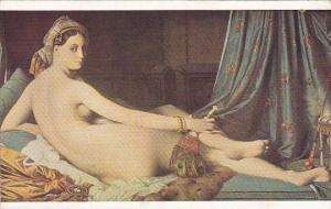 Nude Woman Odaliska by J A Ingres Musee du Louvre