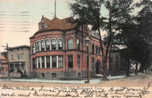 Sea Side Club, Bridgeport, Connecticut, 1907 Hand Colored Postcard, Used